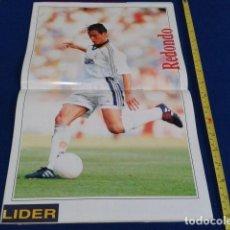 Coleccionismo deportivo: POSTER REVISTA LIDER 1998 ( FERNANDO REDONDO ) REAL MADRID. Lote 124300651