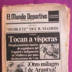 Coleccionismo deportivo: LOTE 21 PERIODICOS, EL MUNDO DEPORTIVO, FUNDADO 1906, 1974 Y 1989, VER PORTADAS. Lote 206957292
