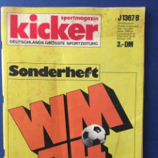 Coleccionismo deportivo: MUNDIAL MÚNICH 74. EXTRA PROGRAMA - REVISTA KICKER. EN ALEMÁN. ESPECTACULAR. Lote 124518571
