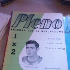 Coleccionismo deportivo: LOTE DE 40 REVISTAS PLENO ACIERTE LOS 14 DE 1970-71 Y 1973-74. Lote 125077591
