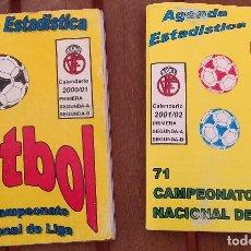 Coleccionismo deportivo: GUIA DE FUTBOL LIGA 2000/2001 Y 2001/2002 EDITORIAL AGENBOL. Lote 125137559