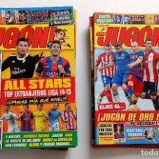 Coleccionismo deportivo: 39 REVISTAS DEL JUGÓN MÁS 3 TABLEROS DE JUEGO Y MÁS DE 100 FICHAS DE LA COLECCIÓN. Lote 125281863