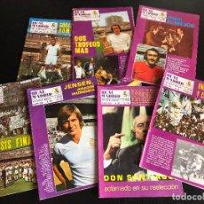 Coleccionismo deportivo: LOTE DE REVISTAS REAL MADRID AÑOS 70. Lote 126054531