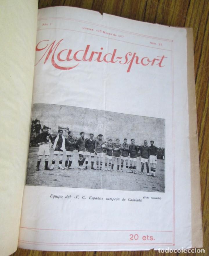 MADRID SPORT AÑOS 1917 A 1918 (Coleccionismo Deportivo - Revistas y Periódicos - otros Fútbol)