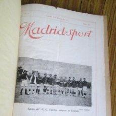 Coleccionismo deportivo: MADRID SPORT AÑOS 1917 A 1918. Lote 126313011