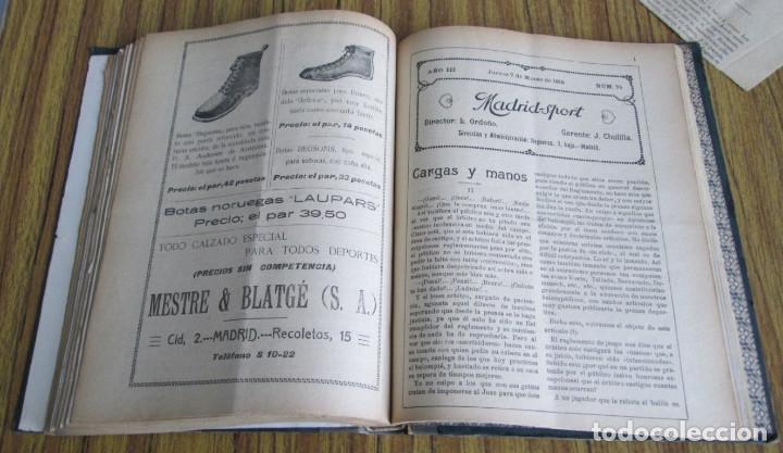 Coleccionismo deportivo: MADRID SPORT Años 1917 a 1918 - Foto 4 - 126313011