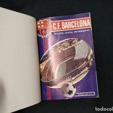 Coleccionismo deportivo: BOLETIN OFICIAL CF BARCELONA - Nº 1 AL Nº 67 EN 5 TOMOS ENCUADERNADOS - LEER INTERIOR. Lote 126366255