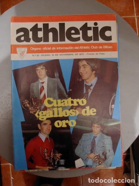 REVISTA ATHLETIC BILBAO NÚMERO 35 DEL 10 DE NOVIEMBRE DE 1975 POSTER IRURETA (Coleccionismo Deportivo - Revistas y Periódicos - otros Fútbol)