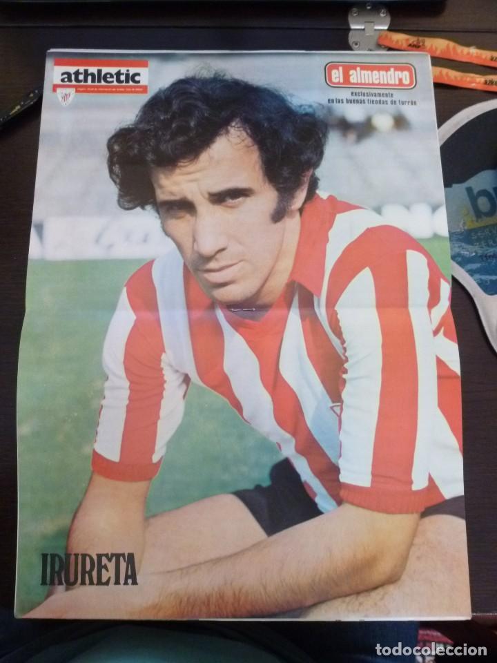 Coleccionismo deportivo: Revista Athletic Bilbao número 35 del 10 de noviembre de 1975 Poster Irureta - Foto 2 - 126369047