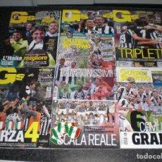 Coleccionismo deportivo: LOTE 7 REVISTAS GUERIN SPORTIVO (ITALIA). ESPECIALES JUVENTUS CAMPEÓN 2012 A 2018. . Lote 126570743