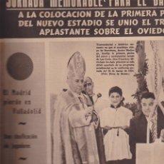 Colecionismo desportivo: SEMANARIO GRAFICO OLIMPIA 30 DE MARZO DE 1954 1ª PIEDRA NOU CAMP. Lote 126637903