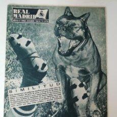 Collectionnisme sportif: ANTIGUA REVISTA REAL MADRID 1956 Nº 77 - 2ª COPA DE EUROPA RAPID DE VIENA, LIGA, TOM WHITTAKER, ATLE. Lote 126743495