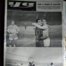 Coleccionismo deportivo: MADRID GANA EN BARCELONA ANTIGUO PERIÓDICO 1960. Lote 126874012
