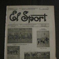 Coleccionismo deportivo: EL SPORT-REVISTA FUTBOL Y DEPORTES-NUM.227-AÑO 1921-BARCELONA AVENÇ-MADRID -VER FOTOS-(V-14.894) . Lote 127133915