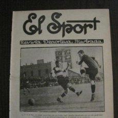 Coleccionismo deportivo: EL SPORT-REVISTA FUTBOL Y DEPORTES-NUM.337-AÑO 1922-BARCELONA -SANS-MARTINENC-VER FOTOS-(V-14.896) . Lote 127134447