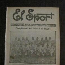 Coleccionismo deportivo: EL SPORT-REVISTA FUTBOL Y DEPORTES-NUM.365-AÑO 1923-BARCELONA-EUROPA- RUGBY -VER FOTOS-(V-14.897) . Lote 127134859