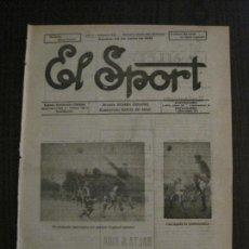 Coleccionismo deportivo: EL SPORT-REVISTA FUTBOL Y DEPORTES-NUM.251-AÑO 1921-ESPAÑOL- SABADELL -VER FOTOS-(V-14.898) . Lote 127135043