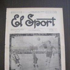 Coleccionismo deportivo: EL SPORT-REVISTA FUTBOL-DEPORTES-NUM 267 -AÑO 1921- BARCELONA-AVENÇ-VER FOTOS-(V-14.910). Lote 127141019