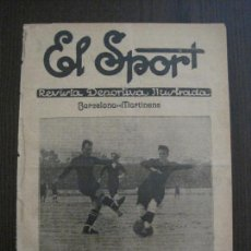 Coleccionismo deportivo: EL SPORT-REVISTA FUTBOL-DEPORTES-NUM 329 -AÑO 1922-BARCELONA-MARTINENC-VER FOTOS-(V-14.915). Lote 127142483