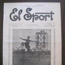 Coleccionismo deportivo: EL SPORT-REVISTA FUTBOL-DEPORTES-NUM 271 -AÑO 1921-BARCELONA-EUROPA-ALCANTARA-VER FOTOS-(V-14.917). Lote 127143079