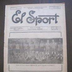 Coleccionismo deportivo: EL SPORT-REVISTA FUTBOL-DEPORTES-NUM 224 -AÑO 1921-ESPAÑA AVENÇ BARCELONA SEVIL-VER FOTOS-(V-14.919). Lote 127143587
