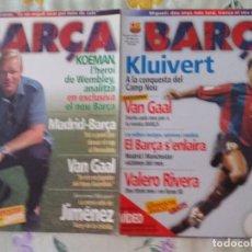 Coleccionismo deportivo: LOTE 18 REVISTAS FCB BARÇA 98 2000 SIN OJEAR. Lote 127152379