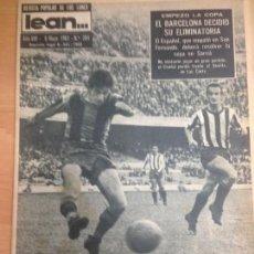 Collectionnisme sportif: REVISTA DEPORTIVA LEAN Nº 304 MAYO 1961 FUTBOL PARTIDO BARCELONA - GIJON COPA . Lote 127196595
