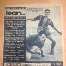 Coleccionismo deportivo: REVISTA DEPORTIVA LEAN Nº 74 OCTUBRE 1956 PARTIDO FUTBOL BARCELONA -CORUÑA CONDAL-ESPAÑOL. Lote 127197151