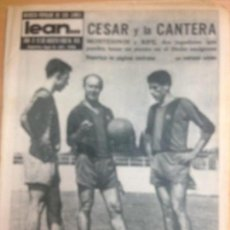 Collectionnisme sportif: REVISTA DEPORTIVA LEAN Nº 415 AGOSTO 1963 PARTIO FUTBOL HOSPITALET-TARRASA . Lote 127203359