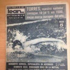 Collectionnisme sportif: REVISTA DEPORTIVA LEAN Nº360 UNIO 1962 MUNDIAL FUTBOL CHILE. Lote 127279139