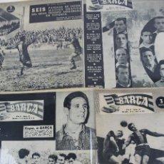 Coleccionismo deportivo: DEP-3.REVISTA BARÇA. NUMEROS 11 AL 20. LOTE DE 9 REVISTAS . MARZO 1956 A MAYO 1956. Lote 128169915