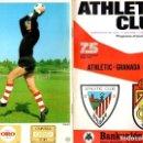 Coleccionismo deportivo: PROGRAMA OFICIAL ATHLETIC CLUB BILBAO - GRANADA C.F. CAMPEONATO LIGA 1ª DIVISION 1973-74. Lote 128630484