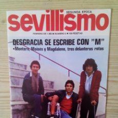 Coleccionismo deportivo: REVISTA FUTBOL SEVILLISMO - SEGUNDA EPOCA - NUMERO 2. Lote 128639351