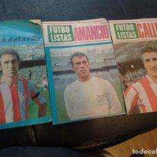 Coleccionismo deportivo: FUTBOLISTAS CALLEJA ABELARDO AMANCIO REVISTA GRAFICO NÚMERO 1 2 Y 3. Lote 129074807