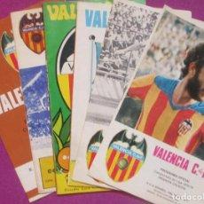 Coleccionismo deportivo: LOTE 6 PROGRAMAS OFICIAL FUTBOL, VALENCIA C.F - R.C.D ESPAÑOL, AÑOS 70 - 80. Lote 129166231