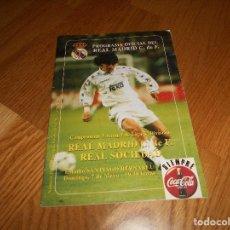 Coleccionismo deportivo: PROGRAMA OFICIAL REAL MADRID CF Nº 21PERFECTO ZAMORANO 7 MAYO 94 95. Lote 129227687