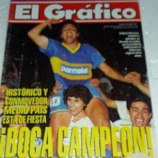 Coleccionismo deportivo: REVISTA EL GRAFICO BOCA JUNIORS CAMPEON DESPUES DE 11 AÑOS. Lote 129284767