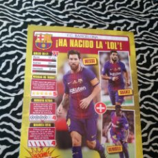 Coleccionismo deportivo: DOBLE REPORTAJE JUGÓN BARCELONA: MESSI SUÁREZ DEMBÉLÉ, REAL MADRID: CRISTIANO RONALDO BALE BENZEMA. Lote 129739615