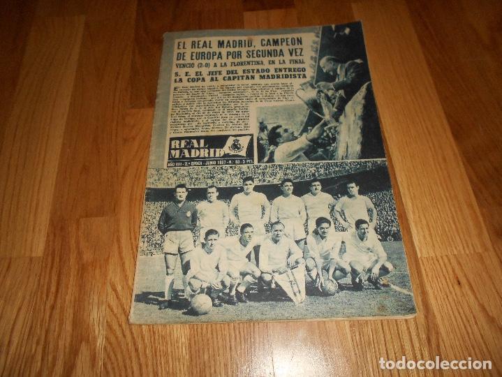BOLETIN REVISTA OFICIAL REAL MADRID 1956/1957 Nº 83 ESPECIAL CAMPEON SEGUNDA COPA DE EUROPA 56/57 (Coleccionismo Deportivo - Revistas y Periódicos - otros Fútbol)