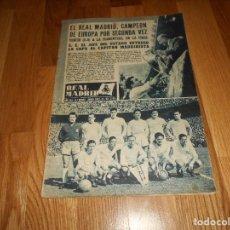 Coleccionismo deportivo: BOLETIN REVISTA OFICIAL REAL MADRID 1956/1957 Nº 83 ESPECIAL CAMPEON SEGUNDA COPA DE EUROPA 56/57. Lote 129742991