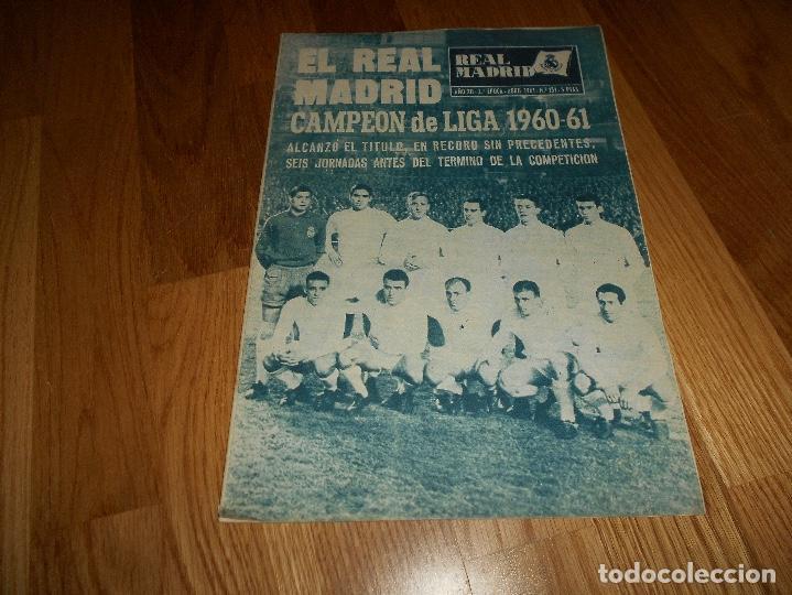 BOLETIN REVISTA OFICIAL REAL MADRID 1960-1961 Nº 131 CAMPEON DE LIGA 60/61 ZAMALEK EL CAIRO-AARHUS (Coleccionismo Deportivo - Revistas y Periódicos - otros Fútbol)