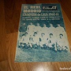 Coleccionismo deportivo: BOLETIN REVISTA OFICIAL REAL MADRID 1960-1961 Nº 131 CAMPEON DE LIGA 60/61 ZAMALEK EL CAIRO-AARHUS. Lote 129746439