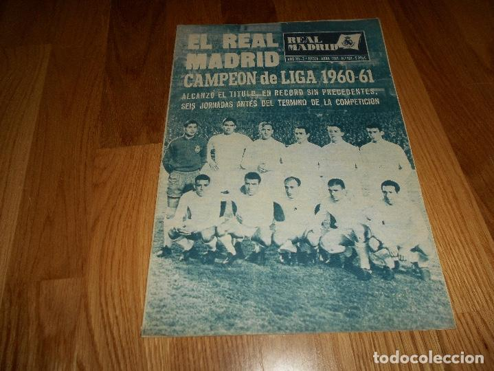 Coleccionismo deportivo: BOLETIN REVISTA OFICIAL REAL MADRID 1960-1961 Nº 131 CAMPEON DE LIGA 60/61 ZAMALEK EL CAIRO-AARHUS - Foto 2 - 129746439
