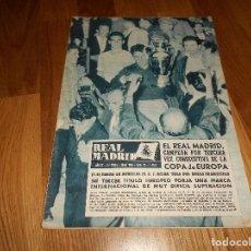 Coleccionismo deportivo: BOLETIN REVISTA OFICIAL REAL MADRID 1957/1958 Nº 95 ESPECIAL CAMPEON COPA DE EUROPA 57/58 AC MILAN. Lote 129747267
