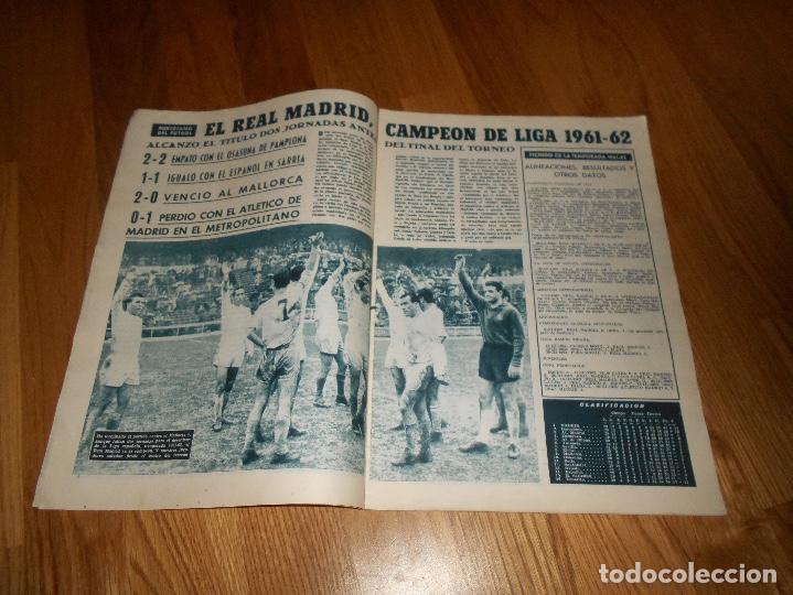 Coleccionismo deportivo: BOLETIN REVISTA OFICIAL REAL MADRID Nº 143 CAMPEON LIGA 61/62-COPA EUROPA STANDARD LIEJA 1961/1962 - Foto 2 - 129748235