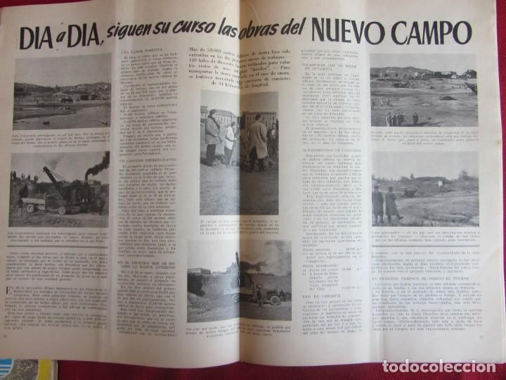 Coleccionismo deportivo: Club de Futbol Barcelona. Información. Nº8. 1955. construcción Camp Nou - Foto 3 - 130683504
