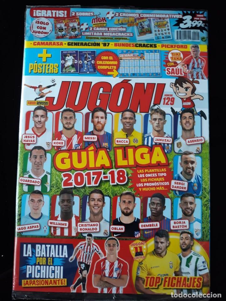 REVISTA JUGON 129. PANINI. ENVOLTORIO ORIGINAL. SIN CROMOS (Coleccionismo Deportivo - Revistas y Periódicos - otros Fútbol)