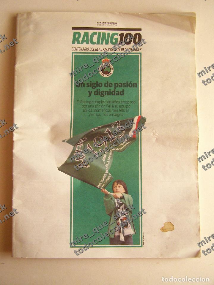 SUPLEMENTO EL DIARIO MONTAÑÉS CENTENARIO REAL RACING CLUB DE SANTANDER, 2014 (Coleccionismo Deportivo - Revistas y Periódicos - otros Fútbol)