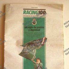 Coleccionismo deportivo: SUPLEMENTO EL DIARIO MONTAÑÉS CENTENARIO REAL RACING CLUB DE SANTANDER, 2014. Lote 131114804