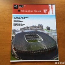 Coleccionismo deportivo: REVISTA OFICIAL ATHLETIC CLUB BILBAO N°19 OCTUBRE 2008. Lote 131135876